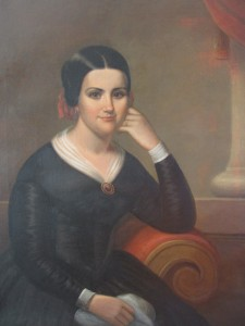 Portrait of Marguerite Bridget (Thibodaux) Tucker - After Restoration