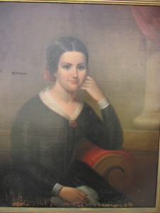 Portrait of Marguerite Bridget (Thibodaux) Tucker - Before Restoration