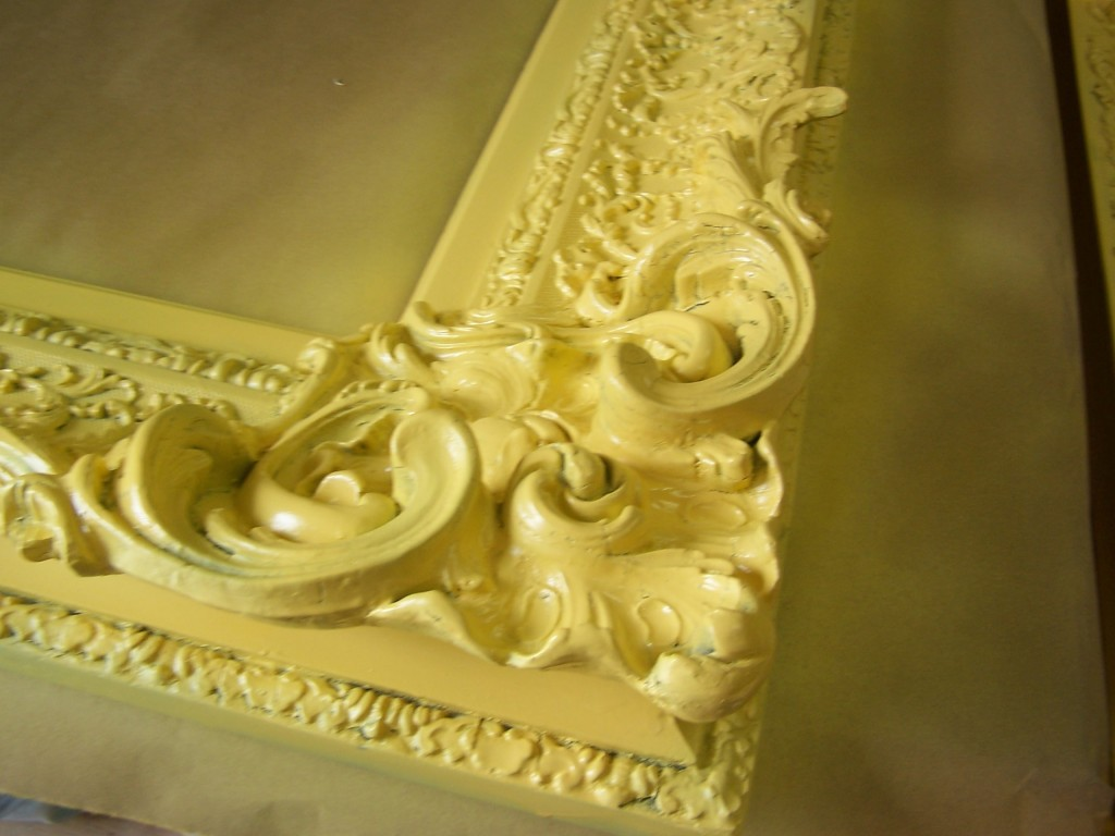Base coat of priming color to highlight the warmth of gold leaf.