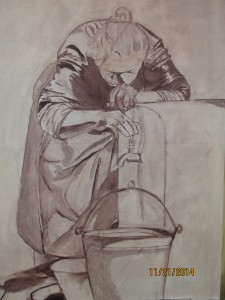 Draft drawing by student Susan Schmude-Wardle.