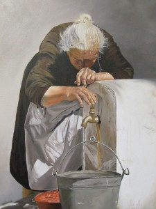 Completed painting Susan Schmude-Wardle who mastered her craft in Kate Wood's art classes.