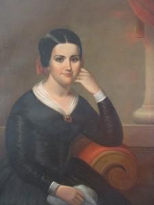 Portrait of Marguerite Bridget (Thibodaux) Tucker - After Restoration