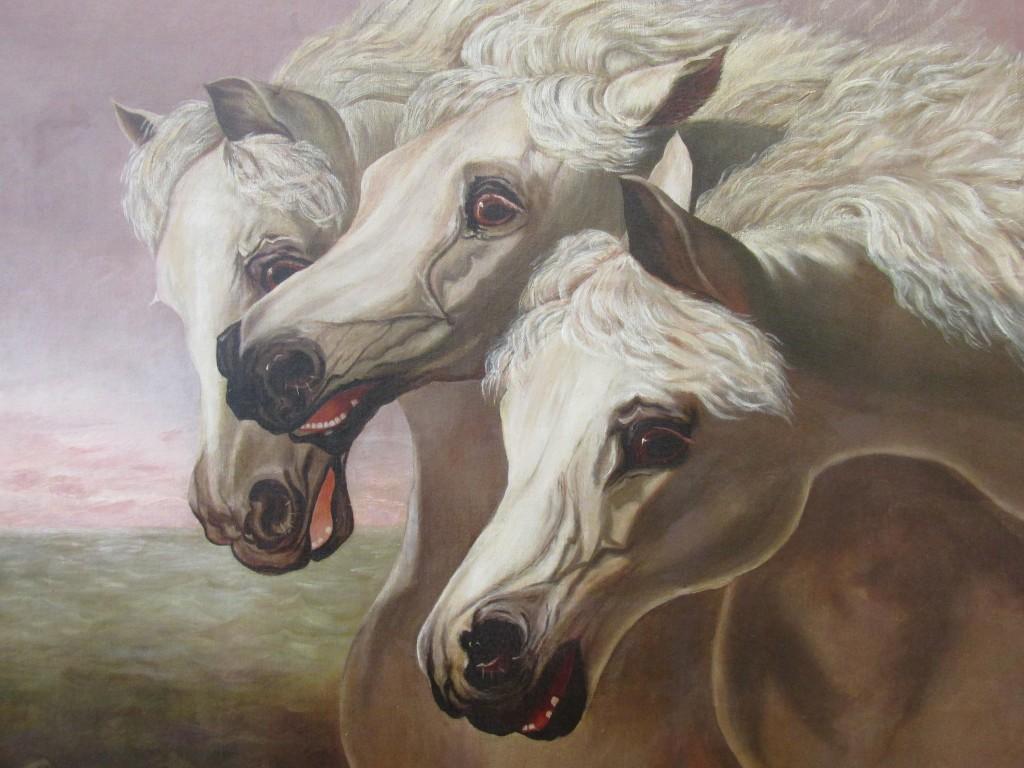 The restored and cleaned Pharoah's Horses