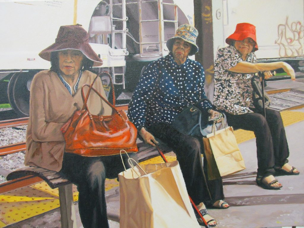 Waiting, Lafayette Station by Kate Wood